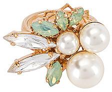 Anton Heunis Pearl & Crystal Ring