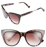 Derek Lam Women's 'Lenox' 53Mm Cat Eye Sunglasses - Matte Nude Crystal