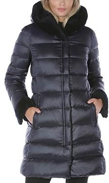 Dawn Levy Eve Shearling Hood Puffer Coat
