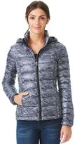 Women's Heat Keep Hooded Printed Packable Down Puffer Jacket