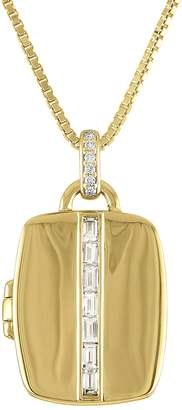 story. My The Riley Baguette Diamond Locket Necklace - Yellow Gold