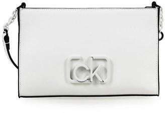 Calvin Klein White Crossbody Bag With Logo