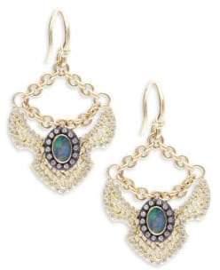 Armenta Old World Boulder Opals, Diamonds, 18K Yellow Gold & Sterling Silver Earrings