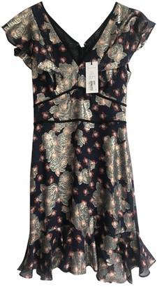 SET Navy Silk Dress for Women