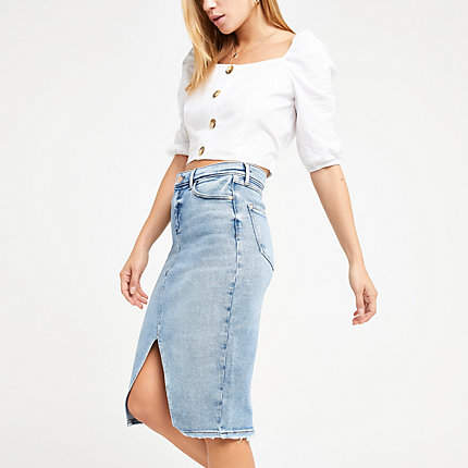 6337949f96 River Island Blue Skirts - ShopStyle