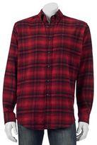 Croft & Barrow Big & Tall Slim-Fit Plaid Flannel Button-Down Shirt