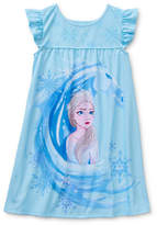Disney Collection Little Kid / Big Kid Girls Frozen Short Sleeve Crew Neck Nightshirt