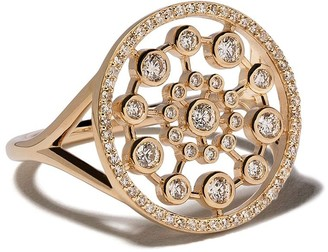 Astley Clarke 14kt gold diamond Large Icon Nova ring