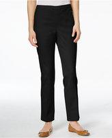 Karen Scott Petite Straight-Leg Twill Pants, Only at Macy's