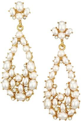 Kenneth Jay Lane Faux Pearl Teardrop Earrings