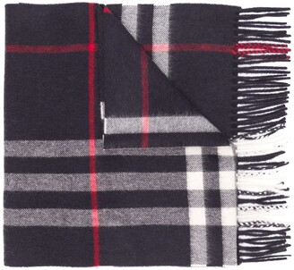 Burberry Fringed Check Scarf