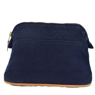 Hermes Navy Cotton Travel bags