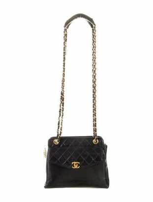 Chanel Vintage Quilted Chain Bag Navy