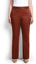 Classic Women's Plus Size Mid Rise Chino Trouser Pants-Steel Gray