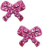 Macy's Children's 14k Gold Earrings, Pink Crystal Bow Earrings