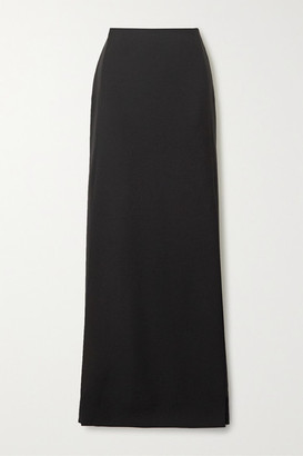 Valentino Wool And Mohair-blend Maxi Skirt - Black