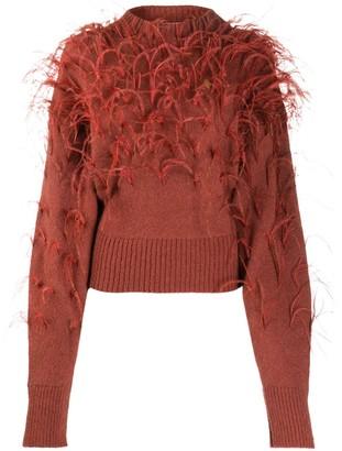 ATTICO Feather Embellished Jumper
