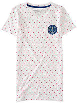 Aeropostale Womens Polka Dot 87 Crest Graphic T Shirt
