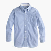 J.Crew Boys' Secret Wash end-on-end shirt