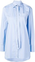 Valentino necktie detail striped shirt