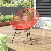 Bronx Ehrlich Patio Chair Ivy Color: Atomic Tangerine/Black