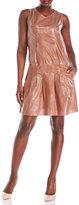 Marni Glass Effect Pleated Dress