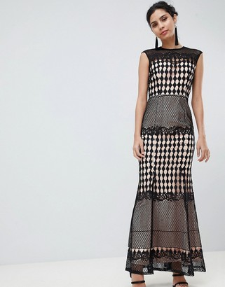 Little Mistress Crochet Maxi Dress