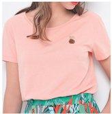 Des Petits Hauts Ivola Shirt Sleeve Pineapple Tshirt Pink