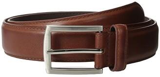 Stacy Adams 32mm Full Grain Leather Top w/ Leather Lining Dress Belt (Cognac) Men's Belts