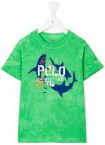 Ralph Lauren shark print T-shirt - kids - Cotton - 2 yrs