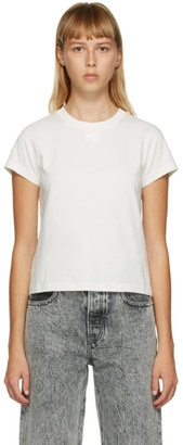 Alexander Wang Off-White Shrunken Foundation T-Shirt
