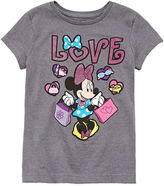 Disney Collection Pink Minnie Mouse Love Graphic Tee - Girls 7-16
