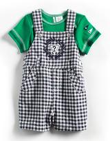 GUESS Newborn Boys 0-9 Months Two-Piece Cotton Overalls Set