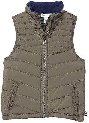Splendid Littles Stripe Lines Puffer Vest (Toddler/Little Kids/Big Kids) (Castor Gray) Boy's Clothing