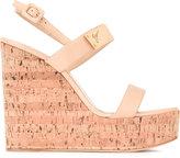 Giuseppe Zanotti Design strappy wedge sandals - women - Leather/Cork/metal - 35