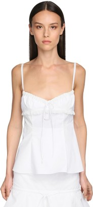 Brock Collection Cotton Blend Camisole Top W/ Lace
