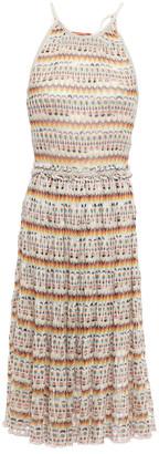 Missoni Ruffle-trimmed Metallic Crochet-knit Dress