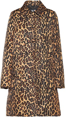 Miu Miu Leopard Print Buttoned Coat