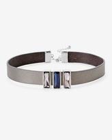 White House Black Market Leather Gem Choker Necklace