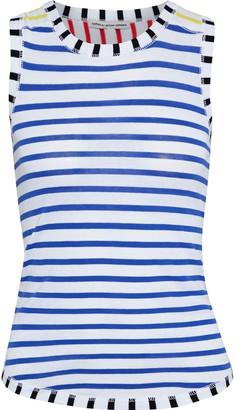 Cotton By Autumn Cashmere Striped Color-block Cotton-jersey Tank