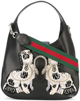 Gucci 'Dionysus' hobo bag - women - Cotton/Calf Leather/Metallic Fibre - One Size