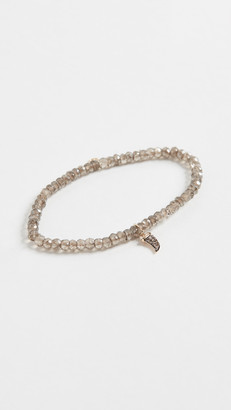 Sydney Evan Mini Pave Horn Bracelet