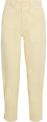 Joie Mirenda Cropped Cotton-blend Tapered Pants