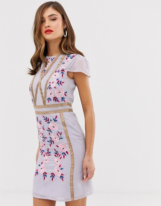Frock and Frill shift dress with embroidered detail