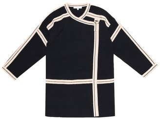 Chloé Kids Cotton and wool knit coat