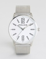 Police Esquire Stainless Steel Bracelet Watch With Silver Dial