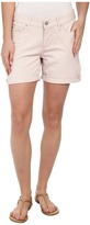 DKNY Stripe Rolled Shorts in Soft Blush