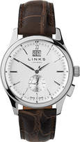 Links of London Regent stainless steel and leather watch