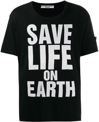 Katharine Hamnett printed 'Save life on Earth T-shirt