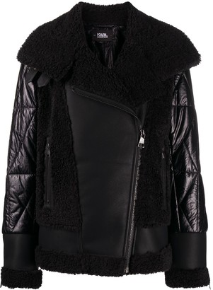 Karl Lagerfeld Paris Faux-Fur Biker Jacket